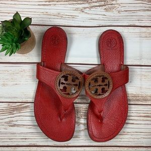 Tory Burch | Louisa Leather Logo Thong Sandals